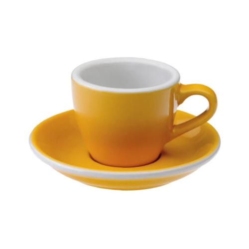 Loveramics Egg Espresso kop en schotel Geel 80 ml