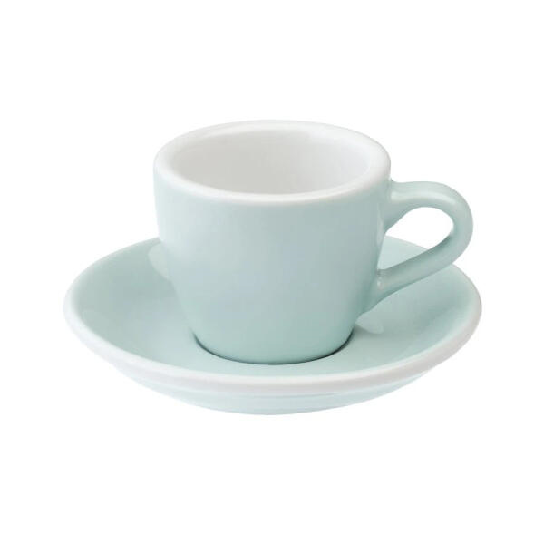 Loveramics Egg Espresso kop en schotel River Blue 80 ml
