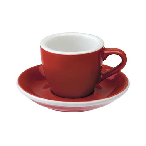 Loveramics Egg Espresso kop en schotel Rood 80 ml