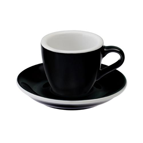 Loveramics Egg Espresso kop en schotel Zwart 80 ml