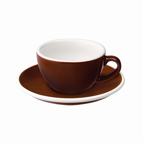 Loveramics Egg Koffie kop en schotel Bruin 150 ml