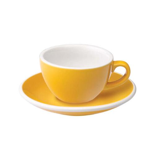 Loveramics Egg Koffie kop en schotel Geel 150 ml