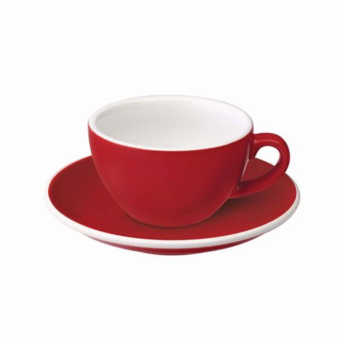 Loveramics Egg Koffie kop en schotel Rood 150 ml