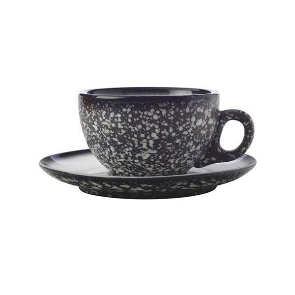 Maxwell & Williams Caviar Koffie Cappuccino Kop en Schotel Graniet