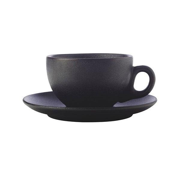 Maxwell & Williams Caviar Koffie Cappuccino Kop en Schotel Zwart