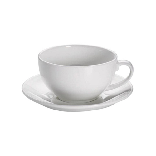 Maxwell & Williams White Basics Cappuccino Kop en Schotel