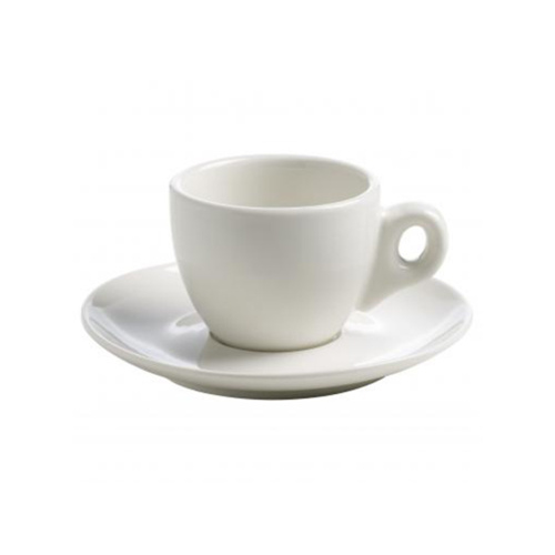 Maxwell & Williams White Basics Espresso Kop en Schotel