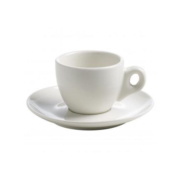 Maxwell & Williams White Basics Espresso Kop en Schotel