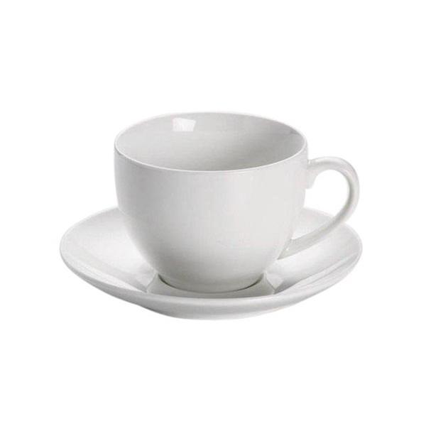 Maxwell & Williams White Basics Koffie Kop en Schotel
