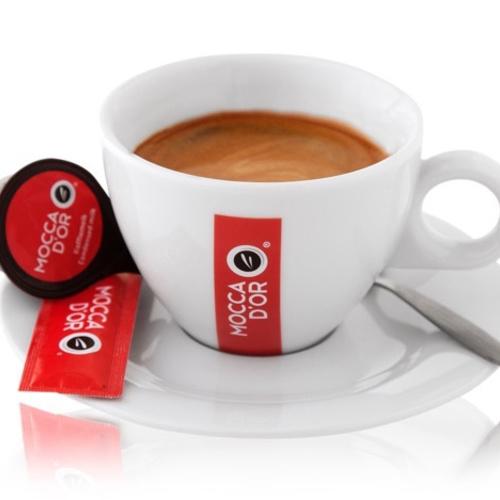 Mocca dor Koffie kop en schotel