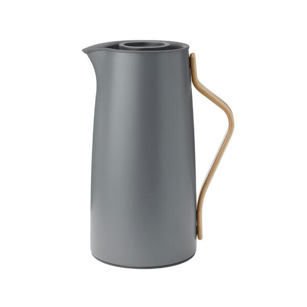 Stelton Emma Thermoskan voor koffie 1,2L Mat Grijs
