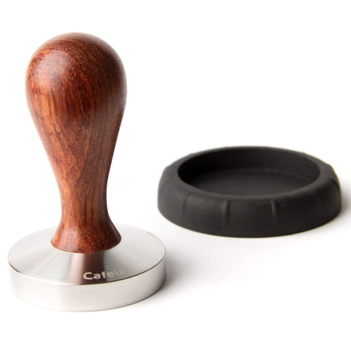 Tamper Cafelat Drop Hout Walnoot 58mm